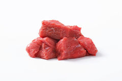 Χωρισμένο σε τετράγωνα βόειο κρέας Στοκ Εικόνες