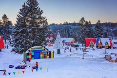 Χωριό Άγιου Βασίλη `, val-Δαβίδ, Κεμπέκ, Καναδάς - 1 Ιανουαρίου 2017 Στοκ Φωτογραφία