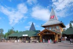 Χωριό αρκτικό Cirkle Ροβανιέμι Lapland Φινλανδία Άγιου Βασίλη στοκ φωτογραφία
