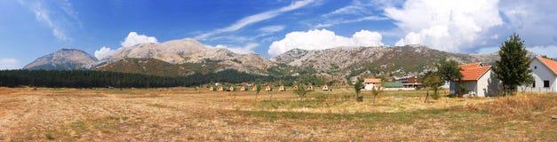 χωριό Βαλκανίων Μαυροβούνιο Στοκ φωτογραφίες με δικαίωμα ελεύθερης χρήσης