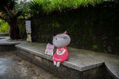 Χωριό γατών Houtong Διάσημος πληθυσμός γατών της Ταϊβάν στοκ εικόνες με δικαίωμα ελεύθερης χρήσης