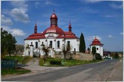 χωριό εκκλησιών Στοκ Εικόνα