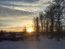Χωριό ηλιοφάνειας στοκ εικόνες