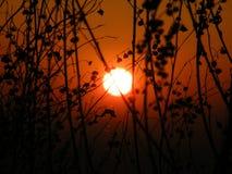 Χωριό ηλιοβασιλέματος Στοκ φωτογραφία με δικαίωμα ελεύθερης χρήσης