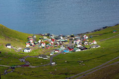 Χωριό θαλασσίως, Νησιά Φερόες Στοκ Φωτογραφίες