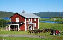 χωριό θερινής όψης ammarnas Στοκ φωτογραφία με δικαίωμα ελεύθερης χρήσης