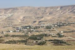 Χωριό και αγροκτήματα στην έρημο της Ιορδανίας στοκ φωτογραφίες με δικαίωμα ελεύθερης χρήσης