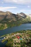 χωριό λιμνών waterton Στοκ εικόνα με δικαίωμα ελεύθερης χρήσης