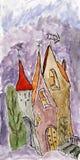 χωριό παραμυθιού Στοκ Εικόνα
