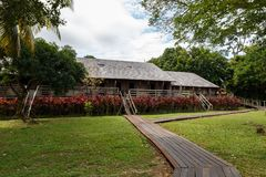 Χωριό πολιτισμού Sarawak Iban longhouse στοκ φωτογραφία με δικαίωμα ελεύθερης χρήσης