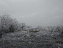 Χωριό που καταστρέφεται χειμερινό Στοκ Φωτογραφίες