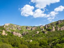 Χωριό σπηλιών Khndzoresk στην επαρχία Syunik, Αρμενία 14 Στοκ Φωτογραφίες