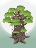 Χωριό στα δέντρα Στοκ εικόνες με δικαίωμα ελεύθερης χρήσης