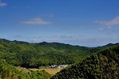 Χωριό στα βουνά, επαρχία Anhui, Κίνα Στοκ φωτογραφίες με δικαίωμα ελεύθερης χρήσης