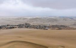 Χωριό στα σύνορα της ερήμου Huacachina, Περού Στοκ φωτογραφίες με δικαίωμα ελεύθερης χρήσης
