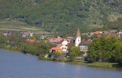 Χωριό στην κοιλάδα Δούναβη Στοκ φωτογραφία με δικαίωμα ελεύθερης χρήσης