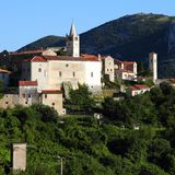 Χωριό στην Κροατία Στοκ Εικόνα