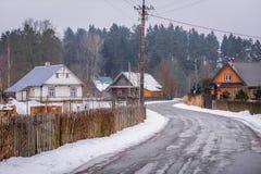 Χωριό στην περιοχή Podlasie Στοκ φωτογραφία με δικαίωμα ελεύθερης χρήσης