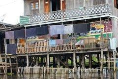 Χωριό στη λίμνη Inle στη Βιρμανία, Ασία Στοκ φωτογραφίες με δικαίωμα ελεύθερης χρήσης