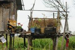 Χωριό στη λίμνη Inle στη Βιρμανία, Ασία Στοκ φωτογραφία με δικαίωμα ελεύθερης χρήσης
