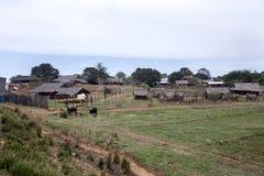 Χωριό στο Βορρά, κοντά σε Antsohihy, Μαδαγασκάρη Στοκ φωτογραφία με δικαίωμα ελεύθερης χρήσης