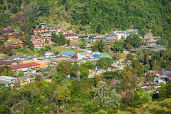 Χωριό στο ANG Khang, Ταϊλάνδη Doi Στοκ Εικόνα