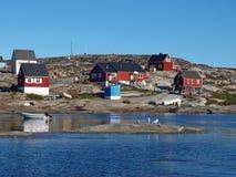 χωριό της Γροιλανδίας oqaatsut Στοκ Εικόνες