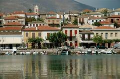 χωριό της Ελλάδας galaxidi στοκ εικόνα με δικαίωμα ελεύθερης χρήσης