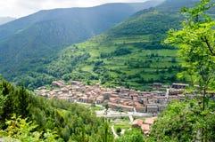 χωριό της Ισπανίας βουνών EL serrat Στοκ Φωτογραφία