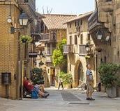 Χωριό της Ισπανίας - Poble Espanyol Στοκ φωτογραφίες με δικαίωμα ελεύθερης χρήσης