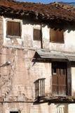 χωριό της Ισπανίας teruel rubielos de mora Στοκ Φωτογραφία