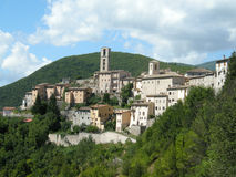χωριό της Ιταλίας Ουμβρία Στοκ Φωτογραφία