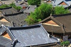 Χωριό της Κορέας Jeonju Hanok στοκ εικόνες