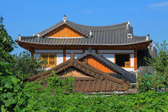 Χωριό της Κορέας Jeonju Hanok στοκ φωτογραφία