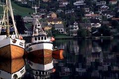χωριό της Νορβηγίας στοκ φωτογραφία