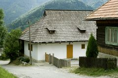 χωριό της ΟΥΝΕΣΚΟ της Σλοβακίας vlkolinec Στοκ Φωτογραφία