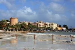 χωριό της Σικελίας mondello νησιώ Στοκ εικόνες με δικαίωμα ελεύθερης χρήσης