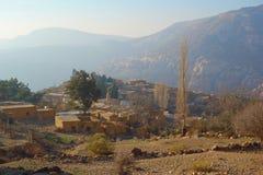 Χωριό της Dana στην επιφύλαξη φύσης βιοποικιλότητας της Dana στην Ιορδανία, Μέση Ανατολή στοκ φωτογραφίες με δικαίωμα ελεύθερης χρήσης