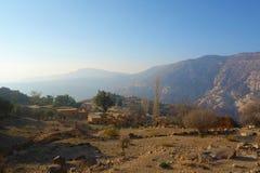 Χωριό της Dana στην επιφύλαξη φύσης βιοποικιλότητας της Dana στην Ιορδανία, Μέση Ανατολή στοκ εικόνες