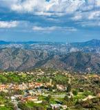 Χωριό της Kato Λεύκαρα Περιοχή της Λεμεσού, Κύπρος Στοκ Εικόνες