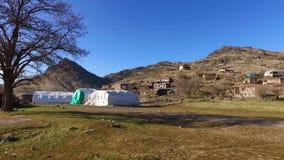 Χωριό Τουρκία, μικρό χωριό απόθεμα βίντεο
