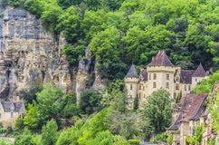 Χωριό του Λα Roque Gageac Aquitaine στοκ εικόνες