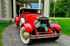 Χωριό του Μάντσεστερ, VT: Ανοικτό αυτοκίνητο του Franklin σε Hildene Στοκ φωτογραφία με δικαίωμα ελεύθερης χρήσης