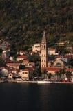 χωριό του Μαυροβουνίου kotorska boka perast Στοκ φωτογραφίες με δικαίωμα ελεύθερης χρήσης