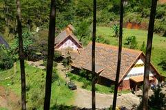 Χωριό του τοπικού LAN $cu, τουρισμός eco Dalat στοκ φωτογραφίες