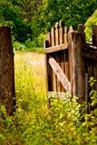 χωριό φραγών ξύλινο στοκ εικόνες