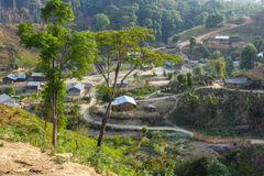 Χωριό φυλής στοκ εικόνα με δικαίωμα ελεύθερης χρήσης