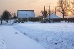 χωριό χιονιού Στοκ Φωτογραφίες
