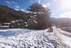 Χωριό χιονιού Shirakawago Στοκ Εικόνες