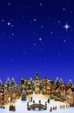 χωριό Χριστουγέννων Στοκ εικόνα με δικαίωμα ελεύθερης χρήσης
